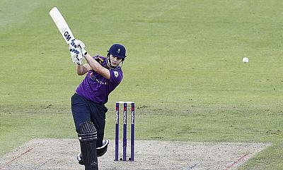 Alex Lees scored a fluent century for Yorkshire on day one.