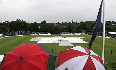 Rain, bad light, leads to no result in first ODI at Grange