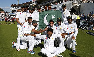 Pakistan reached the number one ranking in Test cricket for the first time
