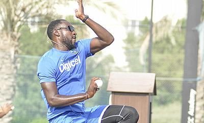Kesrick Williams had a memorable debut for West Indies picking two wickets.