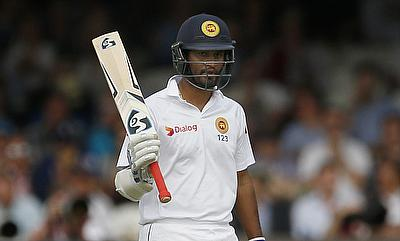 Dimuth Karunaratne scored a century and a fifty in the Harare Test