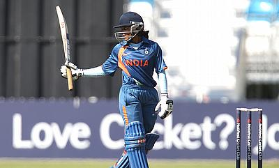 Veda Krishnamurthy scored a fifty for India