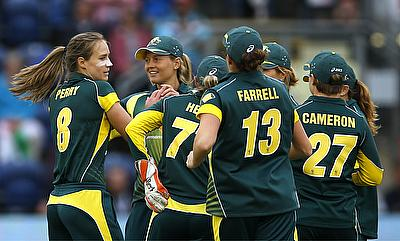 Ellyse Perry (left) was once again outstanding for Australia