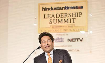 Sachin Tendulkar during the Hindustan Times Leadership Summit