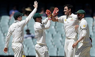 Mitchell Starc picked the key wicket of Asad Shafiq