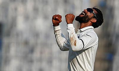 Ravindra Jadeja picked a 10-wicket haul in the game