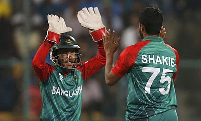 Mushfiqur Rahim (left) will also be doubtful for the T20I series against New Zealand