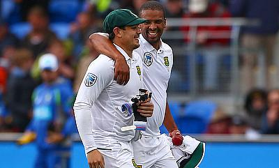 Both Quinton de Kock (left) and Vernon Philander (right) were impressive for South Africa