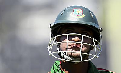Shakib Al Hasan slammed his maiden Test double century in Wellington
