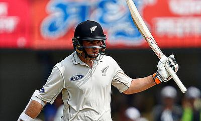 Tom Latham steadied the New Zealand with a century