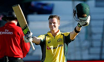 Steven Smith scored an unbeaten century to take Australia through