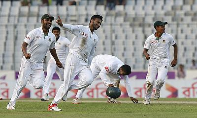 Shakib Al Hasan picked three wickets in two overs
