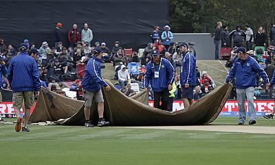 The game at the venue was called off due to wet outfield