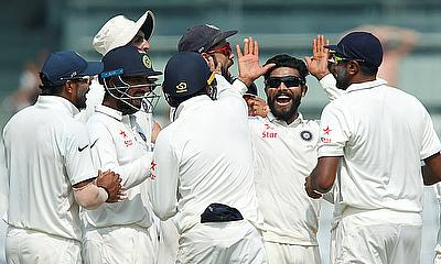 Ravindra Jadeja picked a four-wicket haul in the final innings