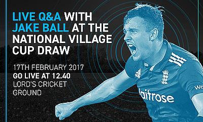 Join Jake Ball Live at National Village Cup Draw