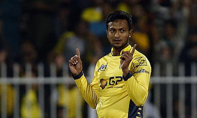 Shakib Al Hasan scored 30 runs and picked two wickets for Peshawar Zalmi