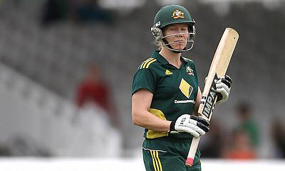 Alex Blackwell top scored for Australia with a 65-run knock