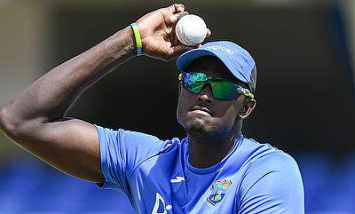 Jason Holder in action during training ahead of the first ODI against England