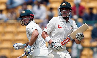 Shaun Marsh (left) and Matt Renshaw led Australian fightback on day two