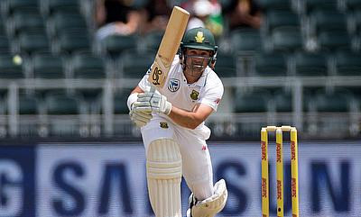 Dean Elgar slammed his seventh Test century