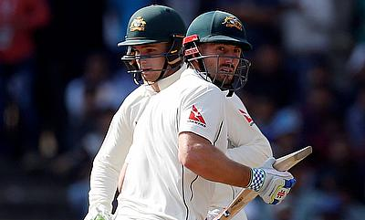Shaun Marsh (right) and Peter Handscomb (left) were the heroes for Australia on the final day