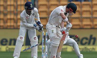 David Warner (right) had a poor series against India