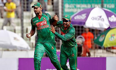 Mashrafe Mortaza (left) will miss the first game of the tri-series against New Zealand