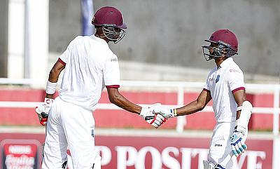 Roston Chase (left) and Shane Dowrich (right) scored fifties on day one