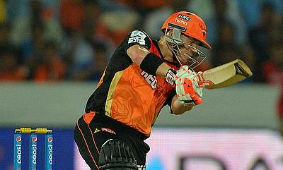 David Warner slammed his first century this season in IPL