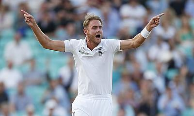 Stuart Broad picked five wickets in the game