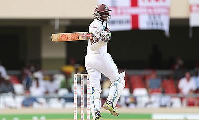Shivnarine Chanderpaul is unbeaten on 32