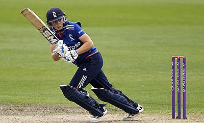 Heather Knight carried on to score a century for England