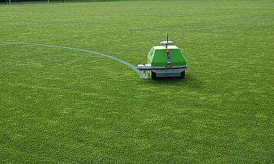Intelligent Line Marking From Rigby Taylor -  The World's First GPS Robotic System Is Now Available