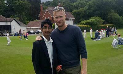 Suhas Shekar Takes Four Wickets In-front of England Legend Freddie Flintoff