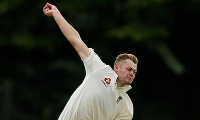 Tom Helm picked a five-wicket haul for Middlesex
