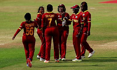 The West Indies celebrate their win against Sri Lanka