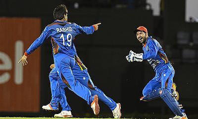 Rashid Khan (left) was impressive against MCC