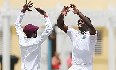 Kemar Roach (right) last played a Test match in January 2016