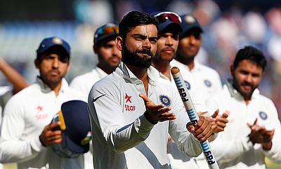 Virat Kohli (centre) will face another challenge in Sri Lanka