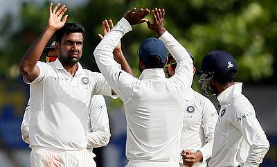 Ravichandran Ashwin (left) picked three wickets in the final innings