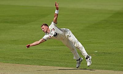 Charlie Hartley picked four wickets in the tour game against West Indies