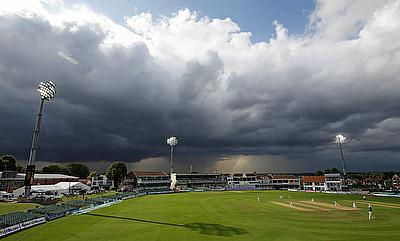 General view during the match in Canterbury