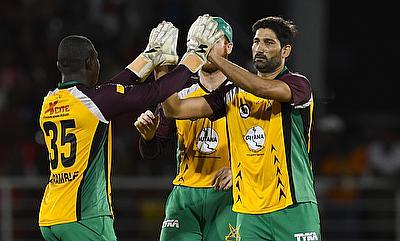 Sohail Tanvir (right) picked three wickets for Guyana