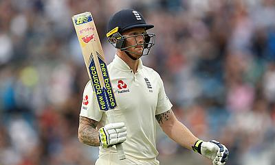 Ben Stokes acknowledges the crowd as he walks off after losing his wicket