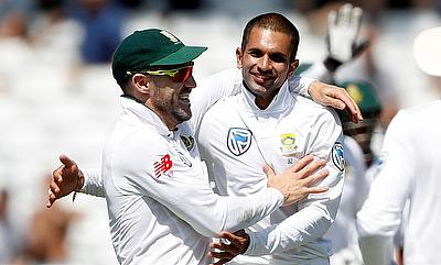 Keshav Maharaj picked three wickets for South Africa in the first innings