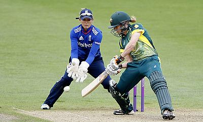 Alex Blackwell (right) played a splendid knock