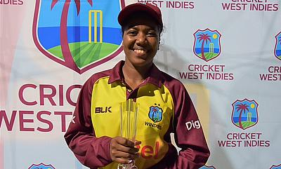 Deandra Dottin wins the player of the match award for her century in final T20I