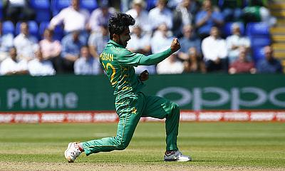 Hasan Ali was named the player of the series