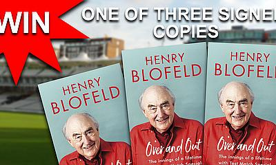 Over And Out  By Henry Blofeld - Book Competition