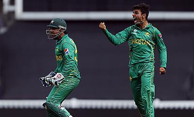Shadab Khan (right) came up with a terrific all-round performance